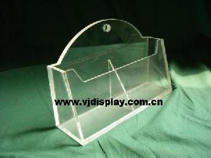 acrylic literature holder pockets