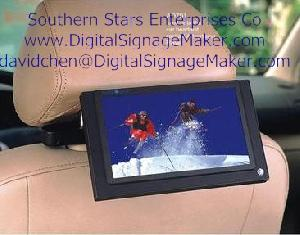 7 lcd promotional display pos media player taxi screen