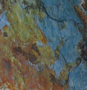 slate tile rusty green
