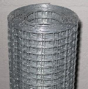 1 square hole galvanized weldmesh roll