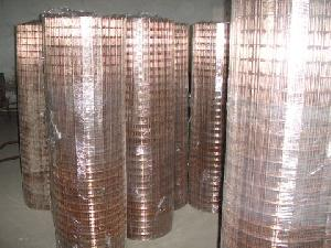 copper coated weldmesh rolls
