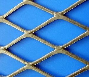 expanded metal mesh carbon steel diamond shape construction