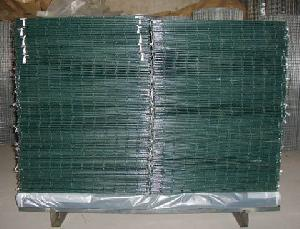 pvc coated wire mesh green fence panel