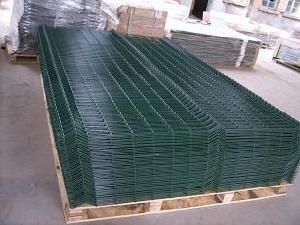 weldmesh panel galvanized green powder cated