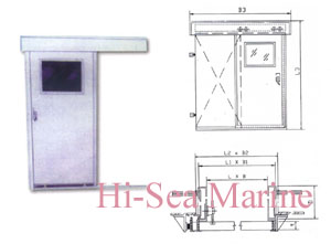 hs03 a05 wheelhouse gastight sliding door marine