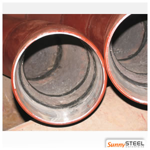 abrasion resistant ceramic lined pipe elbow