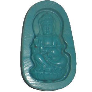 carved tibet turquoise buddha amulet pendant