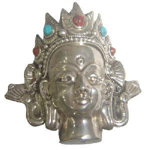 sterling silver head buddha pendant