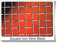 square iron wire mesh construction