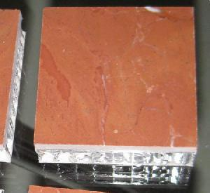 rojo alicante marble aluminum honeycomb tile yokyyang longtops stone