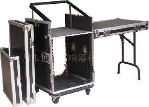 19inch 10u flight rack amplifier case adjusted mixer table legs