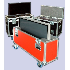flight cases rack plasma case 50inch screen monitor
