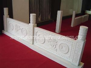 snow marble tiles slabs railing handrail
