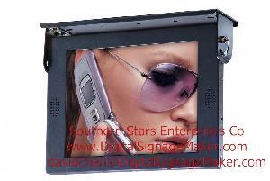 vehicle bus car taxi lcd display screen monitor advertising marketi