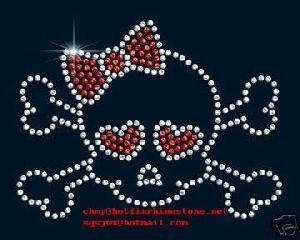 Hotfix Skull Motifs, Rhinestone Hotfix Skull Logos, Hot-fix Skulls Patterns
