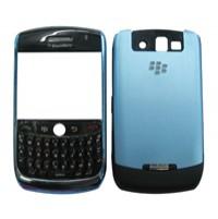 blackberry 8900 cell phone fullset housing keypad blue