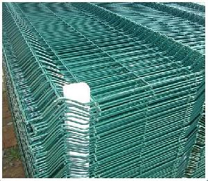 5 gauge green fence panel euro