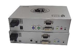 vga kvm extender fiber extension distance 2km 20km