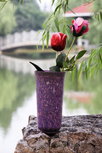 biodegradable plant fibre vases