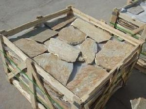 packing slate irregular slabs paving