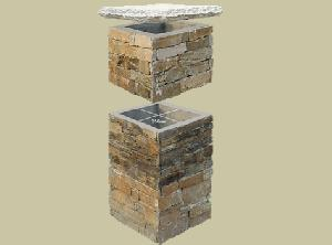 slate column outside