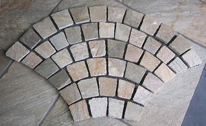 slate irregular shap paving