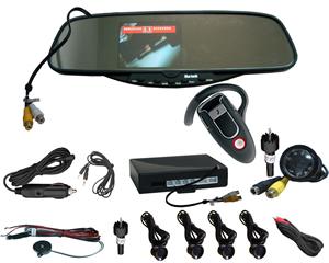 bluetooth rearview mirror caller display parking sensor