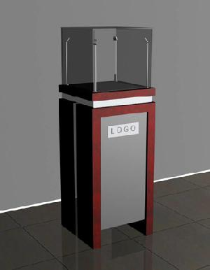 jewellery tower display showcases 4 led lightings