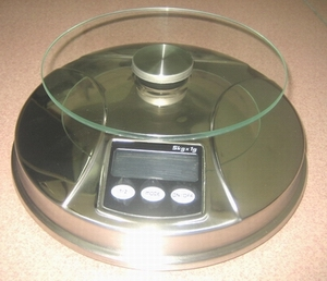 stainless electronic kitchen scales bowl glass platform 5kg 1g