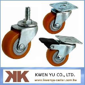 pu light duty casters furniture hardware