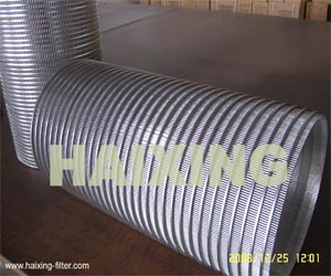 reverse rolled slotted wedge wire screens screen cylinders drum