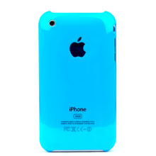 apple iphone 3gs 3g clear crystal case blue