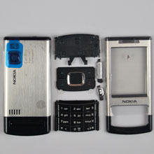 housing faceplate cover nokia 6500s silver