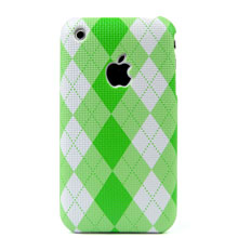 lattice pattern texture plastic case apple iphone green
