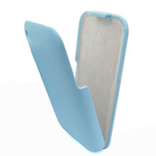 leather flip case skin cover apple iphone 3gs 3g blue
