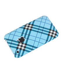 tartan plastic case hard cover 3gs 3g blue