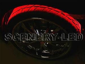 flexible led wheel fender light kit