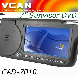 sunvisor car dvd player cad 7010