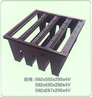 rigid plastic header frame v cell filters