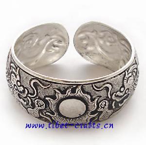 miao silver tribal handmade bracelet