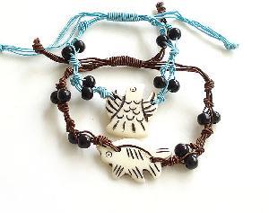 yak s bone fish bracelet