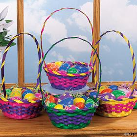 bamboo easter basket gifts packing woven