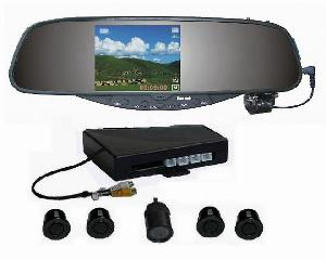 car dvr 3 5 tft rear view mirror parking sensor system rd 728sc4