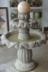 stone fountain ball tiers