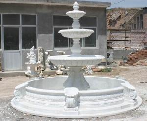 marble carved polished fountain