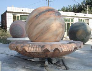 marble outside fountain ball
