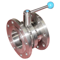 sanitary stainless steel flanged butterfly valve 20031