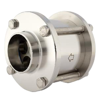 sanitary stainless steel flanged check valve