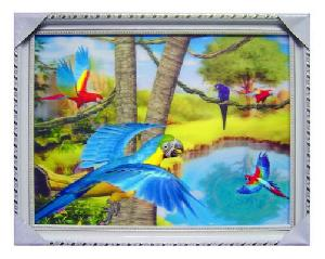 3d 2d stereograph variable paint card painting abstract painted