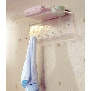 acrylic bathroom shelf